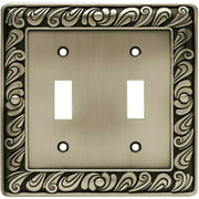 Franklin Brass Paisley Double-Switch Wall Plate, Available in Multiple Colors