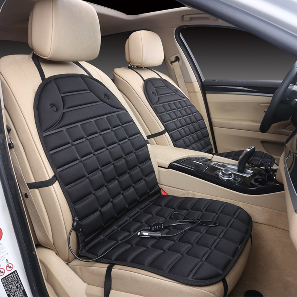 Durable Car Seat Heated Cover 12V Front Seat Heater Auto Winter Warmer Cushion by