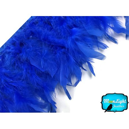 1 Yard - Royal Blue Chandelle Feather - Purple Feather