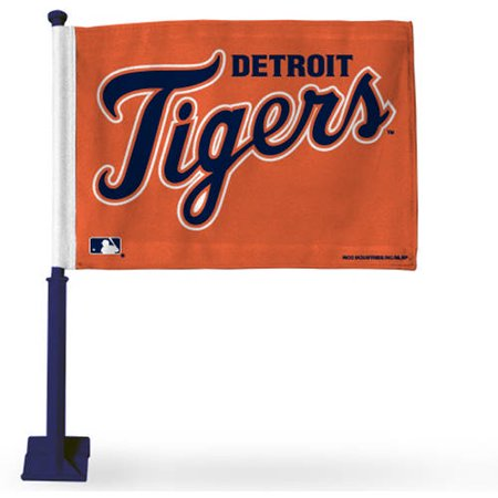 Rico Industries MLB Tigers Car Flag with Colored Pole, Navy - Navy Car Sales