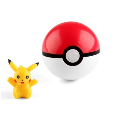 Kids Cosplay Ideas (Pokeball Cosplay Pop-up 7cm Plastic Ball Toy Action Figure and Pikachu)