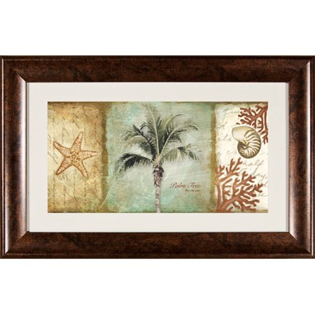 Pro Tour Memorabilia Coconut Tree and Shell Framed Artwork