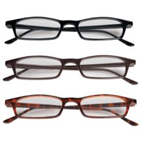 NEO Lightweight Half Eye Unisex 4.00 Reading Glasses, 3 Pair