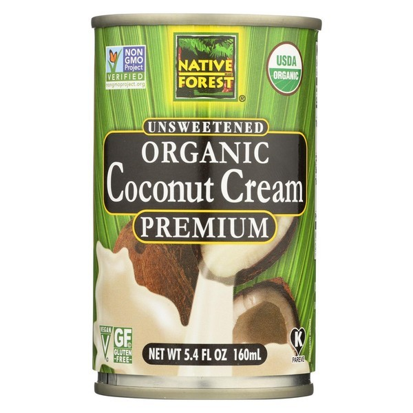 Native Forest Organic Cream Premium - Coconut - Pack of 12 - 5.4 Fl Oz.