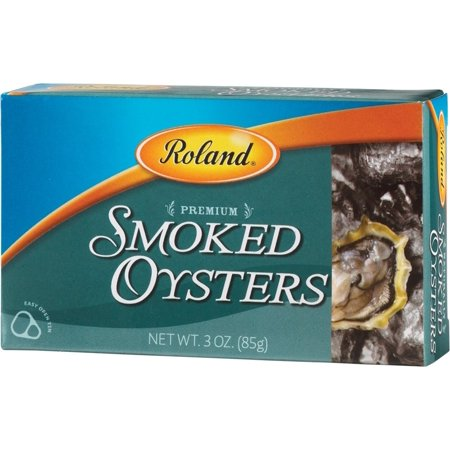 (3 Pack) Roland Canned Premium Smoked Oysters, 3 Oz