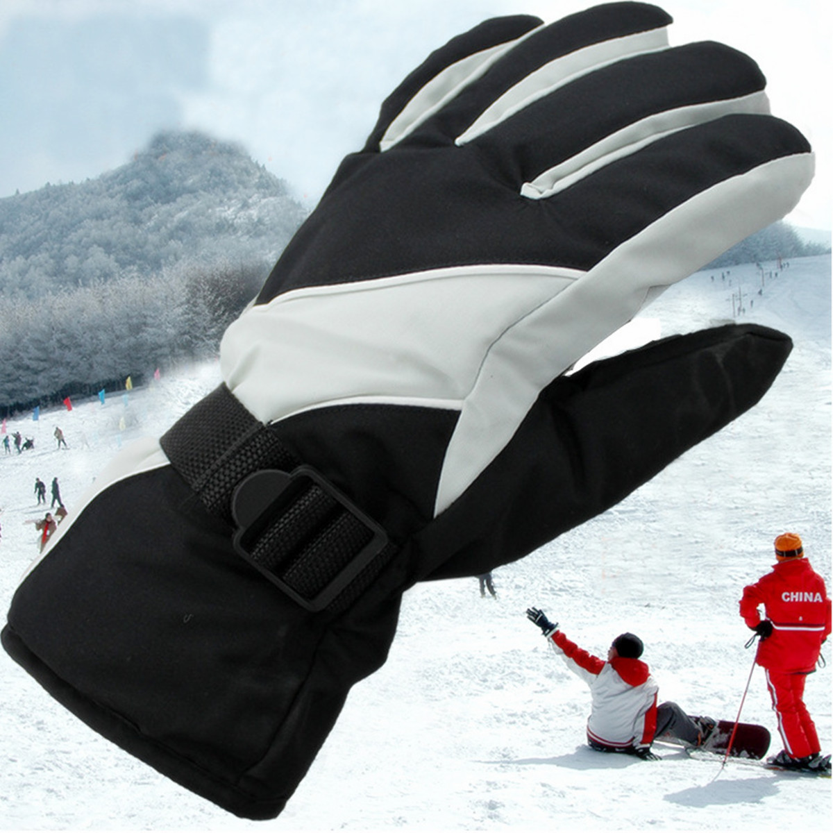 Cycling Winter Cold Weather Gloves Waterproof Windproof by