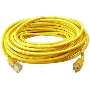 Master Electrician 02589ME 100 ft. Round Vinyl Extension Cord, Yellow