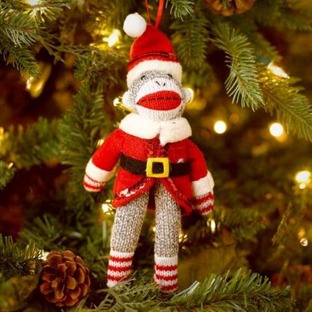 Midwest CBK Sock Monkey Santa Christmas Ornament - Midwest CBK Sock Monkey Santa Christmas Ornament - Walmart.com