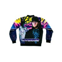 Official WWE Authentic Undertaker Vintage Fanimation Jacket Black/Purple Small