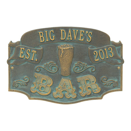 Personalized Whitehall Product Established Bar Plaque in Bronze ()