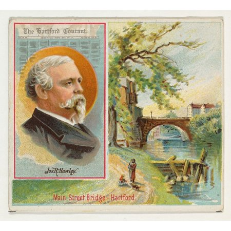 Joseph R Hawley The Hartford Courant From The American Editors Series  N35  For Allen   Ginter Cigarettes Poster Print  18 X 24