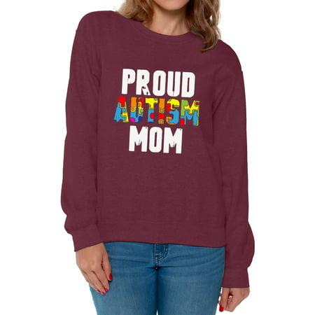 Awkward Styles Proud Autism Mom Sweatshirt Autism Awareness Sweater Autism Gifts Autism Mom Autistic Spectrum Awareness Sweatshirt Proud Mom Autistic Support Sweatshirt for Women