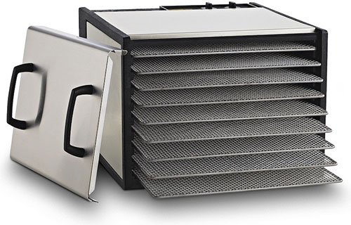Excalibur 9-Tray Dehydrator with Timer, Stainless Steel by Excalibur