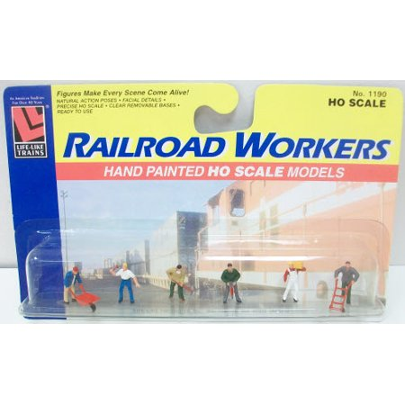 Life Like 1190 HO Railroad Workers Hand Painted Figures