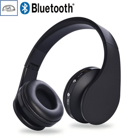 foldable wireless bluetooth headset stereo headphones earphones for smartphon. Black Bedroom Furniture Sets. Home Design Ideas