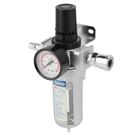 Mounted Regulator (Tbest Rc1/4  Air Compressor Moisture Water Trap Filter Regulator with Mount Connection, Air Pressure Regulator,Filter)