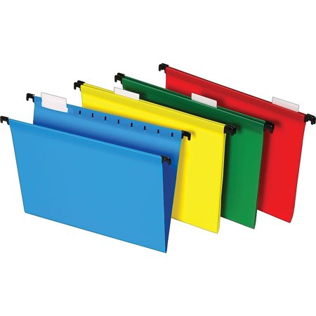 Hot Pocket Poly Hanging - Staples Poly Hanging File Folders 5-Tab Letter Size Assorted Colors 20/BX 645587