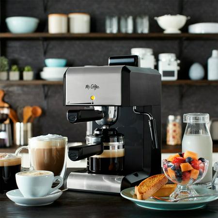 Mr. Coffee Caf Steam Automatic Espresso and Cappuccino Machine, 20 oz, Silver