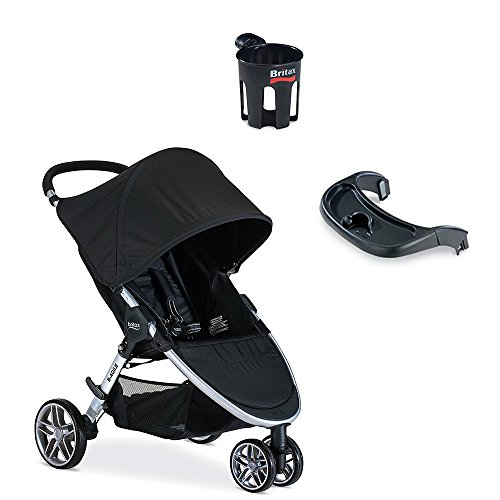 Britax 2017 B-Agile Stroller with Snack Tray & Cup Holder...