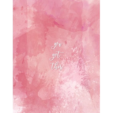 You Got This: Pink Watercolor, Texture, Abstract Notebook, Colorful Notebook, Inspiration Gift for Girls, Bullet Journal and Sketch Book, Composition Book, Journal, 8.5 X 11 Inch 110 Page, Unline (Pap - Watercolor Girls