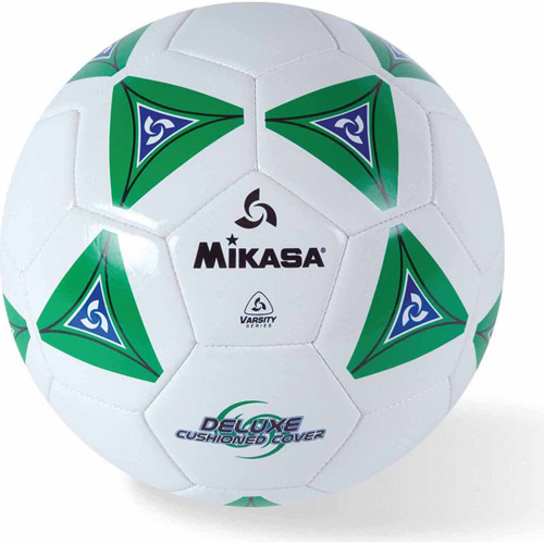Mikasa Soft Soccer Ball, Size 3, Green/White