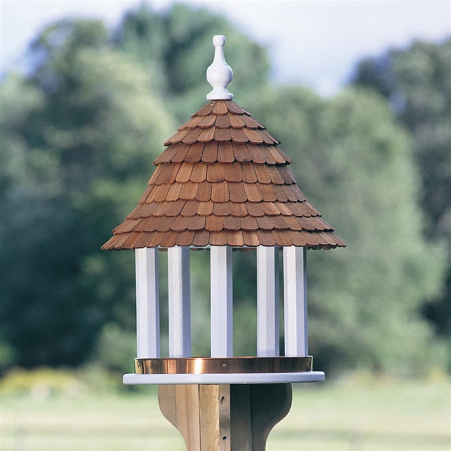 "24"" Fully Functional White Classic Lazy Hill Outdoor Garden Bird Feeder"