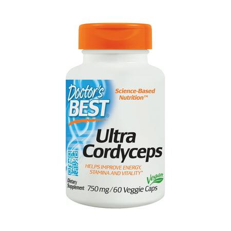Doctor's Best Ultra Cordyceps Non-GMO, Vegan, Gluten Free, Soy Free, 60 Veggie