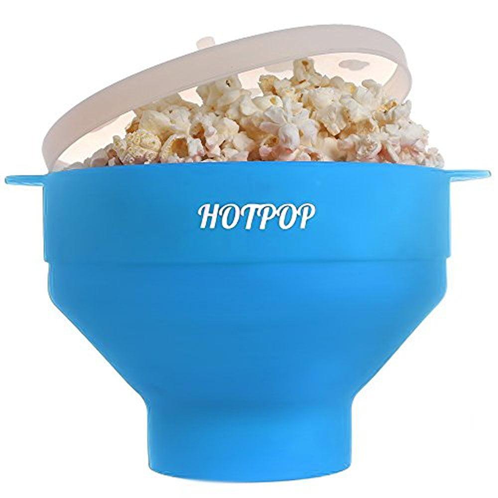 The Original HOTPOP Microwave Popcorn Popper, Silicone Popcorn Maker ...
