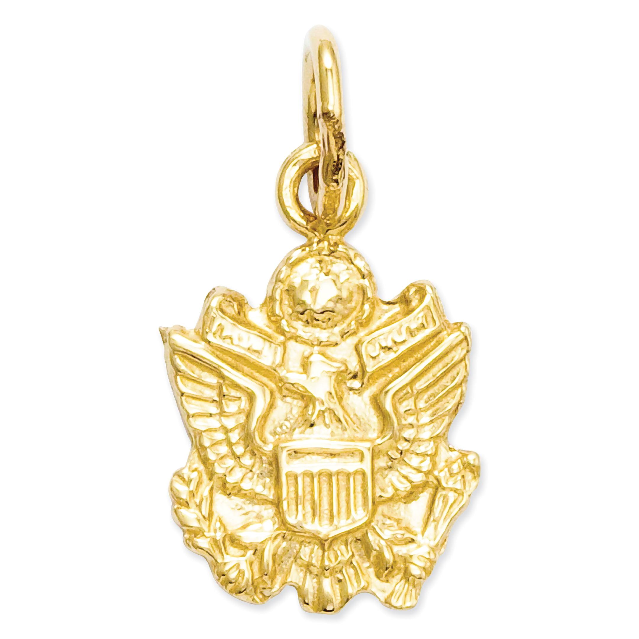 14k U. S. Army Insignia Charm A0223 (16.5mm x 9mm) - image 3 de 3