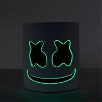 DJ-MarshMello LED Mask Full Head Helmet Halloween Easter Cosplay Bar Music Prop