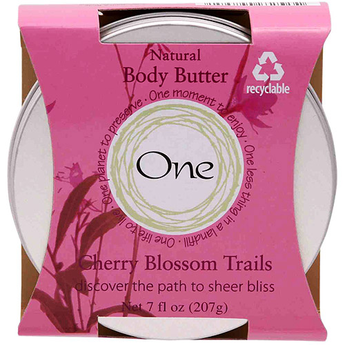 One Body Butter - Cherry Blossom Trails, 7 oz