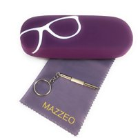 Hard Shell Glasses Case Kit With Eye Glass Cloth and Repair Tool For Men or Women