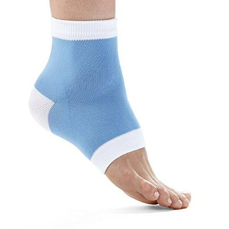 Fitdio Therapeutic Cracked Heel Repairing Gel Socks  Baby Blue  8 Count