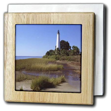 3drose coastal lighthouse tile napkin holder 6 inch - Coastal napkin holder ...