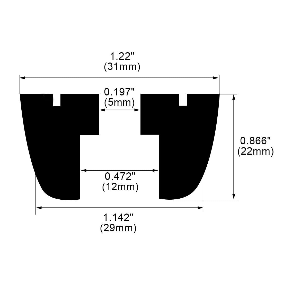 32pcs Rubber Feet Bumpers Furniture Sofa Desk Amplifier Speaker Cabinet Leg Pads D29x31xH22mm - image 6 de 7