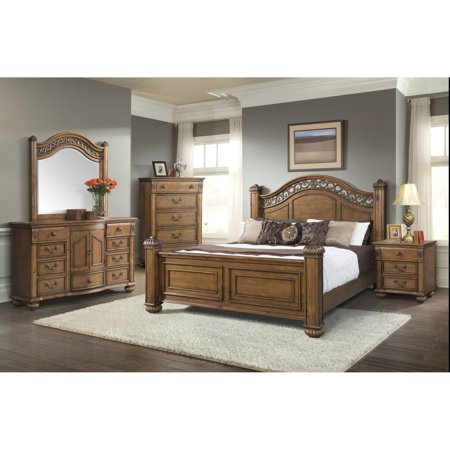 Picket House Furnishings Barrow Poster Bedroom Set, Multiple Sizes and Configurations ()