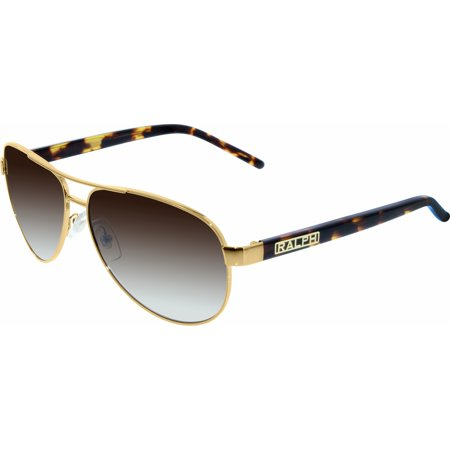 Women's Gradient RA4004-104/13-59 Gold Aviator (Ralph Lauren Havana Sunglasses)