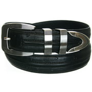 """Beverly Hills Polo Club Men's Ostrich Embossed Belt (Sizes 32""""- 44"""") -"""