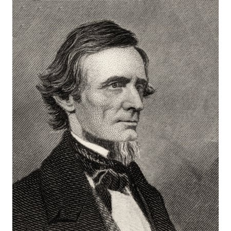Jefferson Davis1808-1889 First And Only President Of The Confederate States Of America During The American Civil War Canvas Art - Ken Welsh Design Pics (13 x 15)