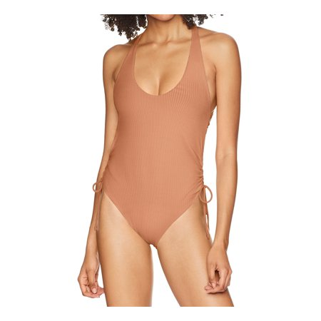 Womens Medium One-Piece Ribbed Swimwear M