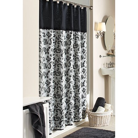 Better Homes and Gardens Damask Fabric Shower Curtain. Better Homes and Gardens Damask Fabric Shower Curtain   Walmart com