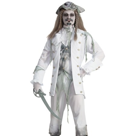Forum Mens Ghost Pirate Halloween Costume