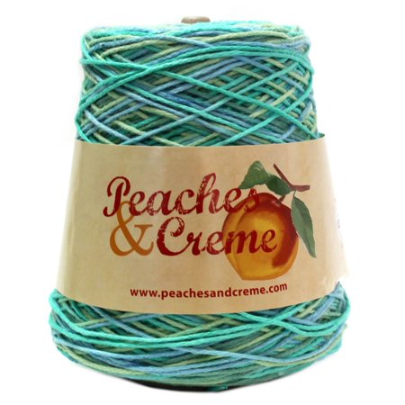 Peaches & Creme Cotton Ocean Stripes Yarn, 14 Oz.