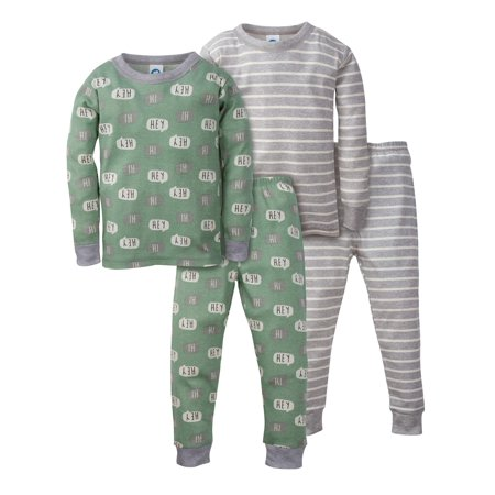 Organic Cotton Mix n Match Pajamas, 4pc Set (Baby Boys & Toddler Boys)