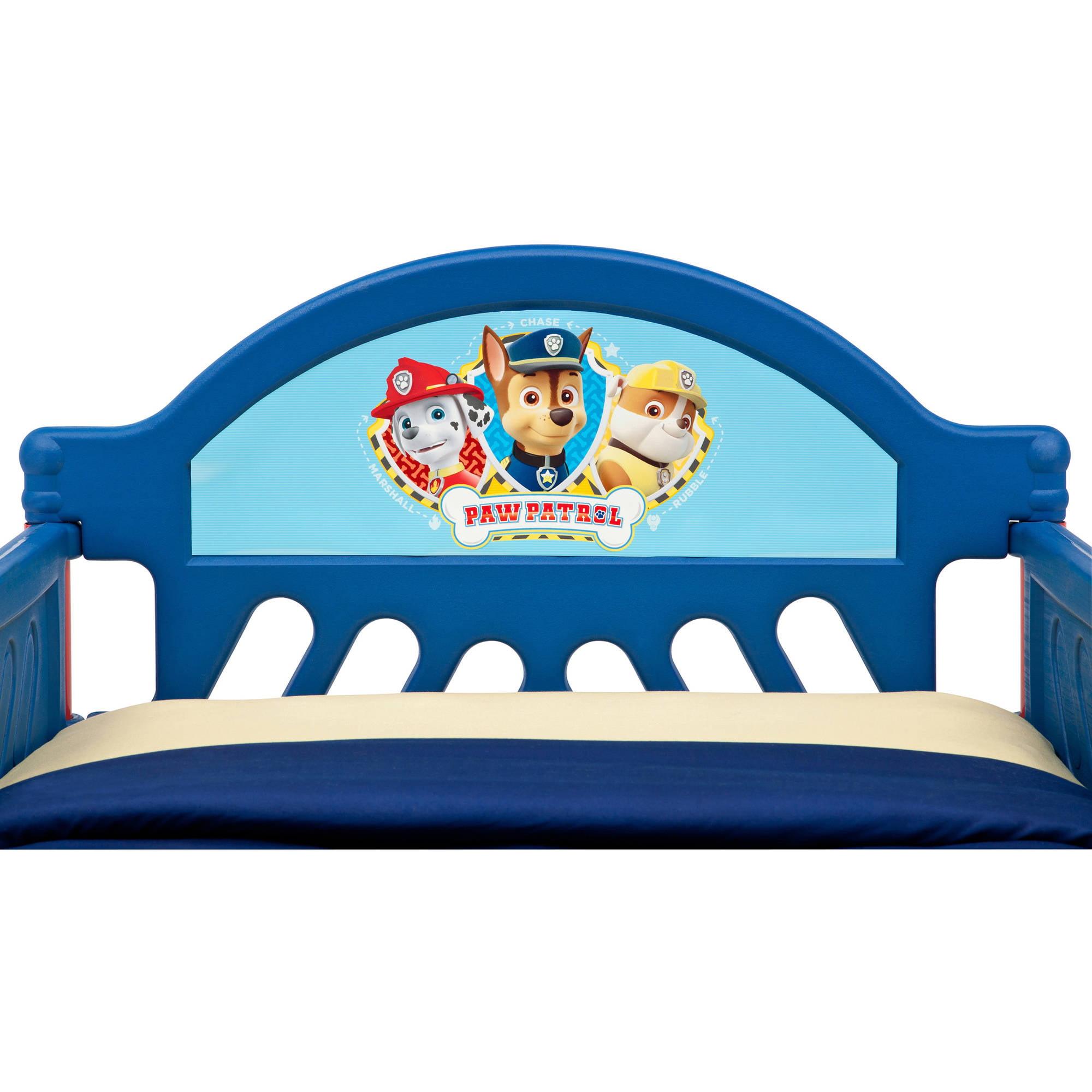 delta children paw patrol plastic toddler bed - walmart