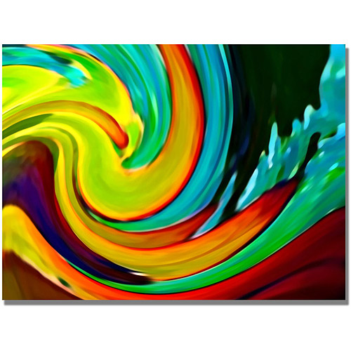 "Trademark Fine Art ""Crashing Wave"" Canvas Wall Art by Amy Vangsgard"