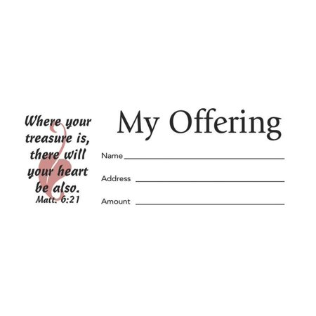 My Offering Bill Size Envelope 100pk (Other) Invitation Envelope Size