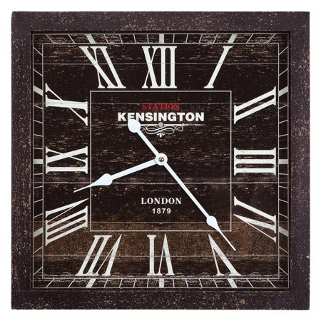 Kensington Station Square Wall Clock - 16W in. -