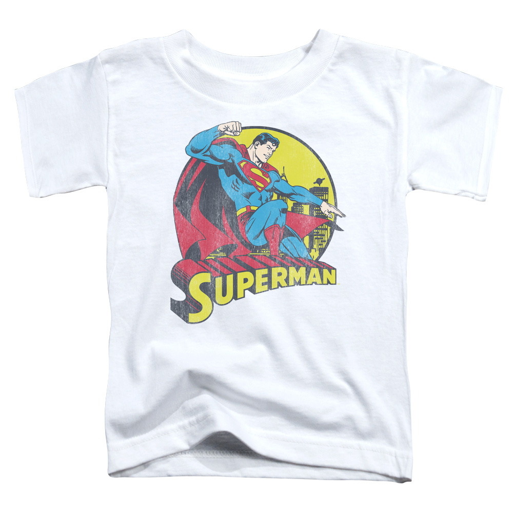 DC/BIG BLUE - S/S TODDLER TEE - WHITE - MD (3T)