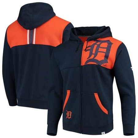 timeless design cface 41331 Detroit Tigers Fanatics Branded Iconic Bold Full-Zip Hoodie - Navy/Orange
